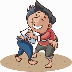 シルム、韓国の相撲です。相撲をする。