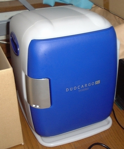 TWINBIRD 2電源式コンパクト電子保冷保温ボックス ブルー OR-C638BL